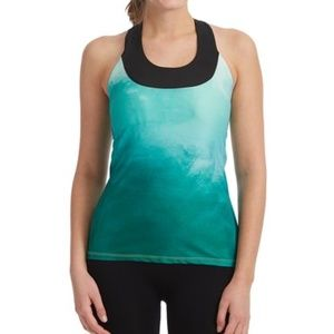 Moxie Cycling Ombre Emerald Tank Top